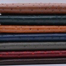 Tissu en cuir pu synthétique vinyle épais   Motif daustrich, décoration de la maison, tissu pour canapé tête de lit, matériel dur arrière-plan du sac C974