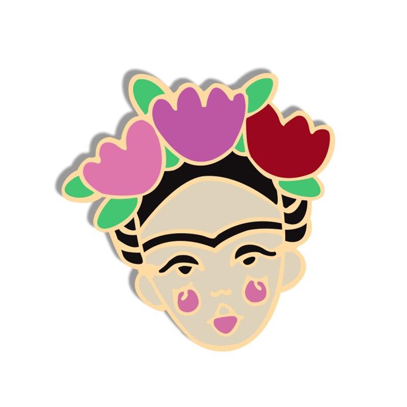 Broche con estampado Floral y divertido de Actor para mujer, broche con flor para solapa, insignias con esmalte Vintage, accesorios de joyería para niñas
