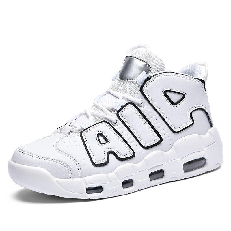Mannen Luchtkussen Loopschoenen Pu Sneakers Comfortabele Antislip Wandelschoenen Professionele Kwaliteit Jogging Schoenen Hoge Top schoenen