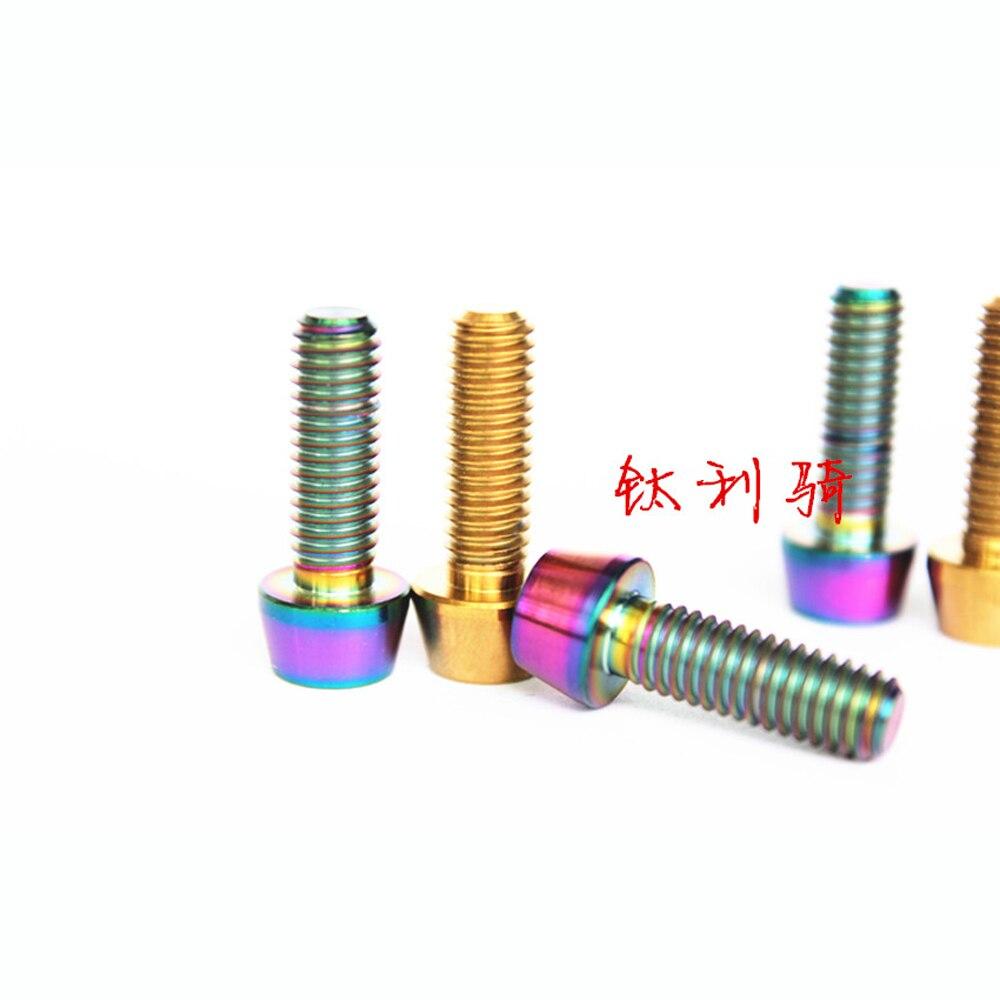 Tornillos de cabeza cónica de aleación de titanio M5 x 15mm GR5 para palanca de cambio de bicicleta