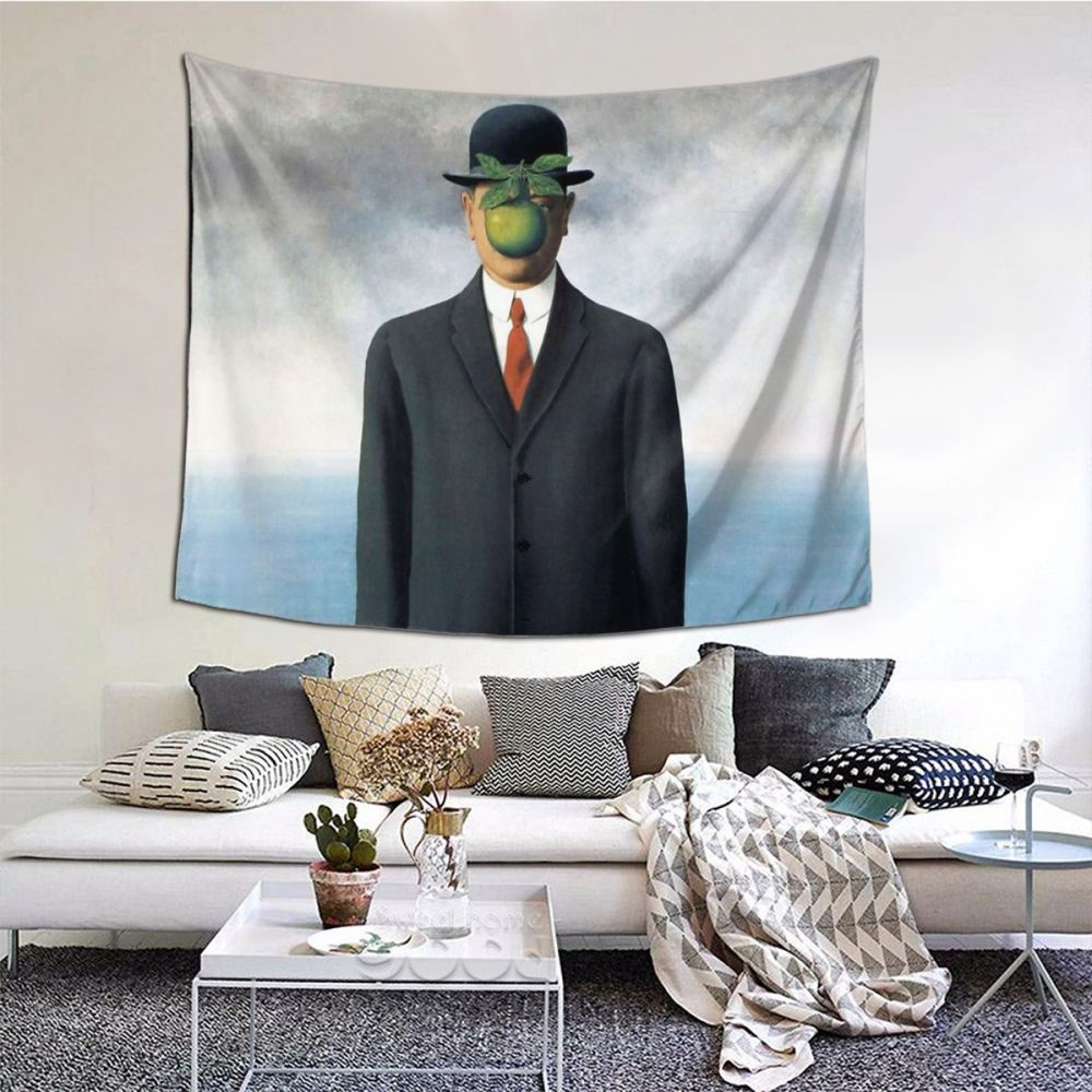 Surrealism Painting Dali Tapestry Curtain Salvador Italian Artist Wall Cloth Polyester Picnic Blanket Vintage