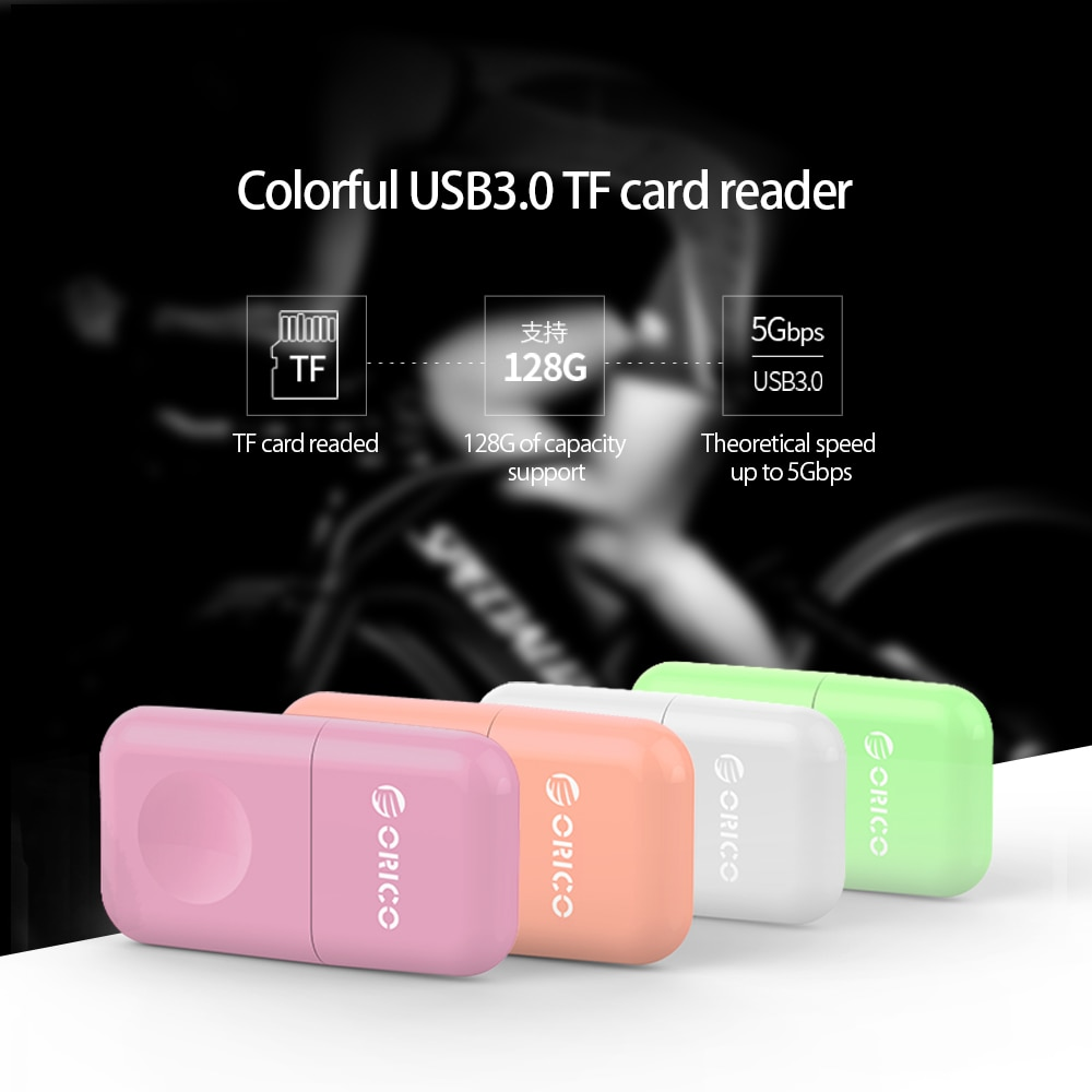 ORICO Smart Card Reader USB 3.0 5Gbps Micro SD TF Memory Card Adapter Flash Drive Laptop Mobile Phone enlarge