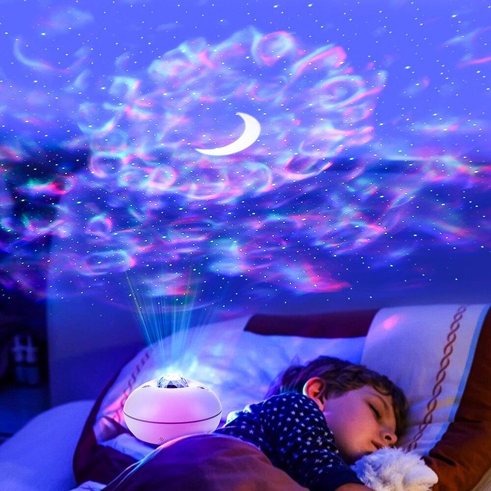Новая светодиодная музыкальная проекция звездное небо освещение с узором воды звездное небо освещение звездное небо проекция освещение ат...