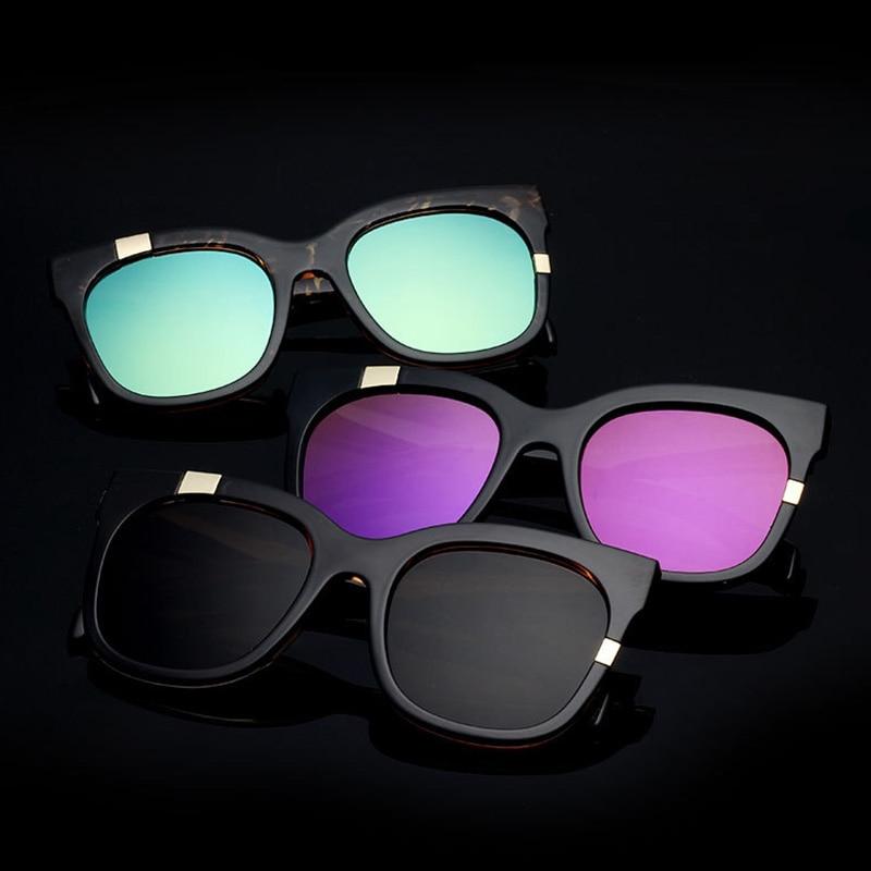 New Women Men Sunglasses Fashion Big Frame Sun Glasses 2021 UV400 Shades Vintage Square Metal Patchw