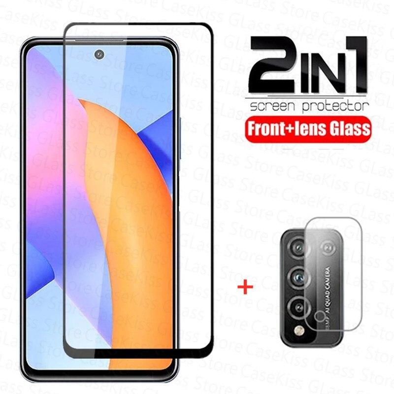 Закаленное стекло 2 в 1 для Huawei Honor 10x Lite 10i, защита экрана, переднее + Защитное стекло для камеры honor 10 x lite, пленка 6,67 дюйма