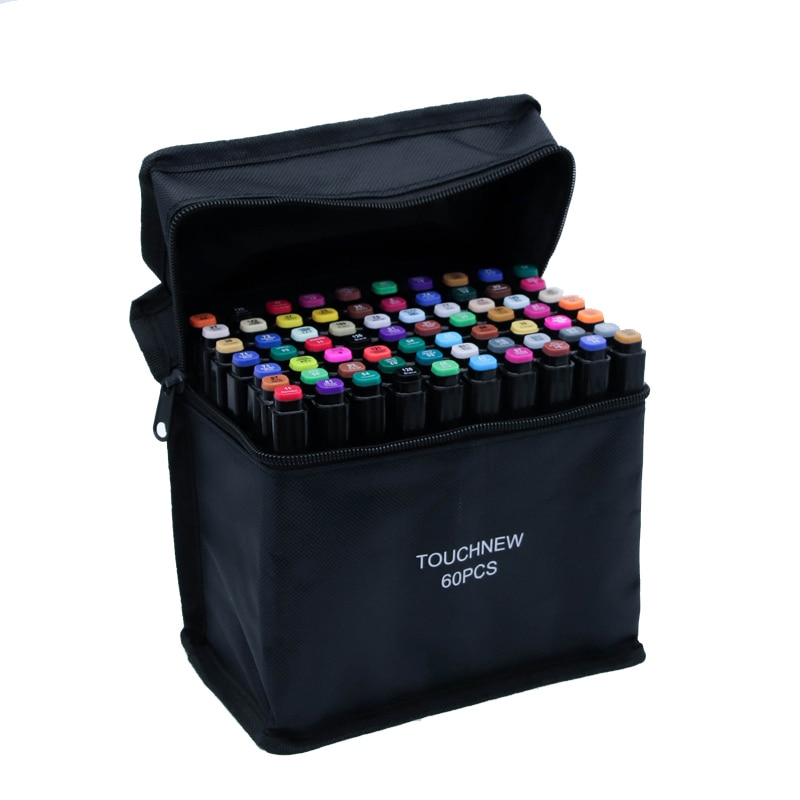 80 pcs assorted color dual tips paint art sketch twin marker pen alcohol based ink for art crafting poster coloring highlighting TouchFive Art Markers168 Colors Alcohol Based Ink Sketch 80 Colors Marker Pen For Artist Drawing Manga Animation Art Supplies