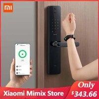 Xiaomi     serrure de porte intelligente Pro  application de verrouillage electronique a distance  connexion vocale avec Mijia HomeKit  avec cle de deverrouillage de sonnette  nouveau