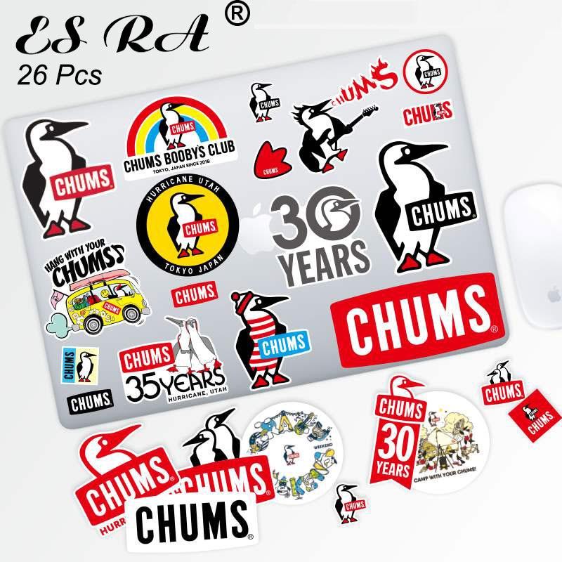 26 Pcs/Set 3~13cm  Outdoor Stickers Set Waterproof PVC Penguin Brand Label for Car  laptop Pitcher