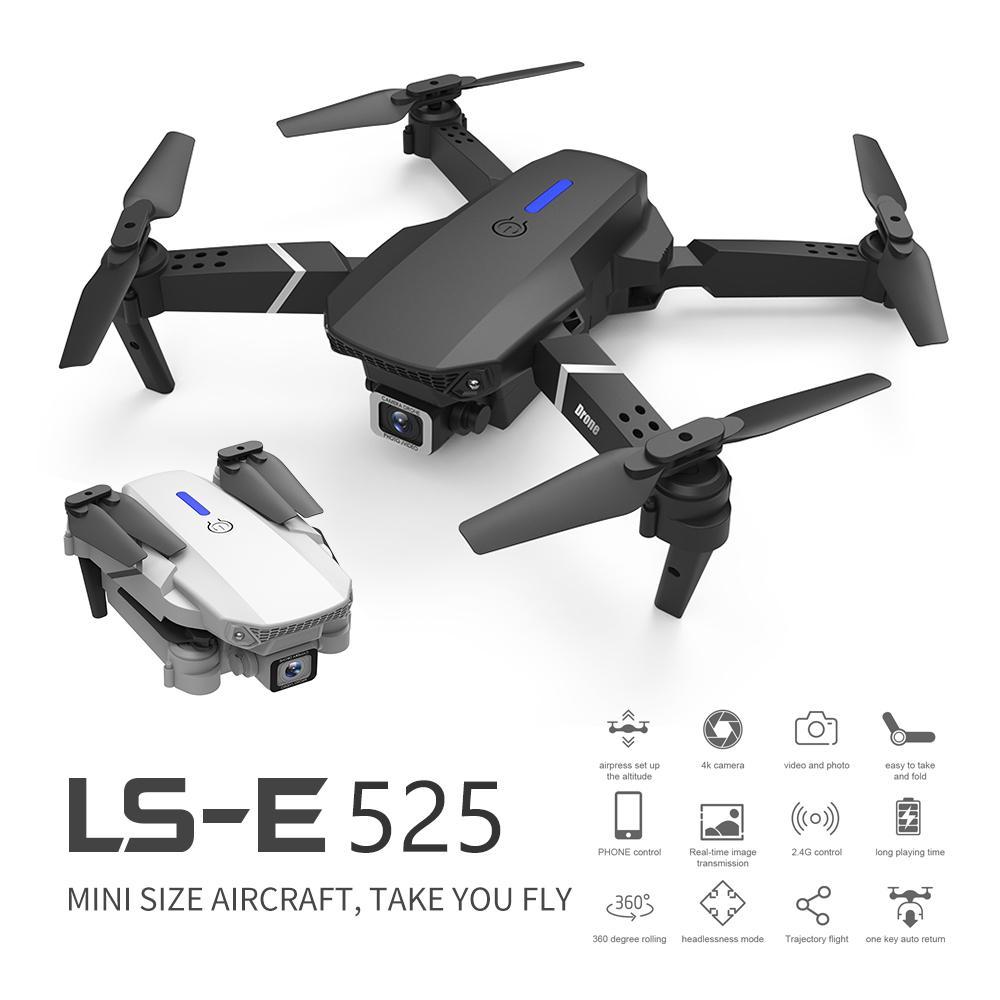 LS-E525 Dron 4k RC Drone Quadcopter juguetes plegables Drone con cámara HD 4K WIFi FPV Drones un clic atrás Mini Drone
