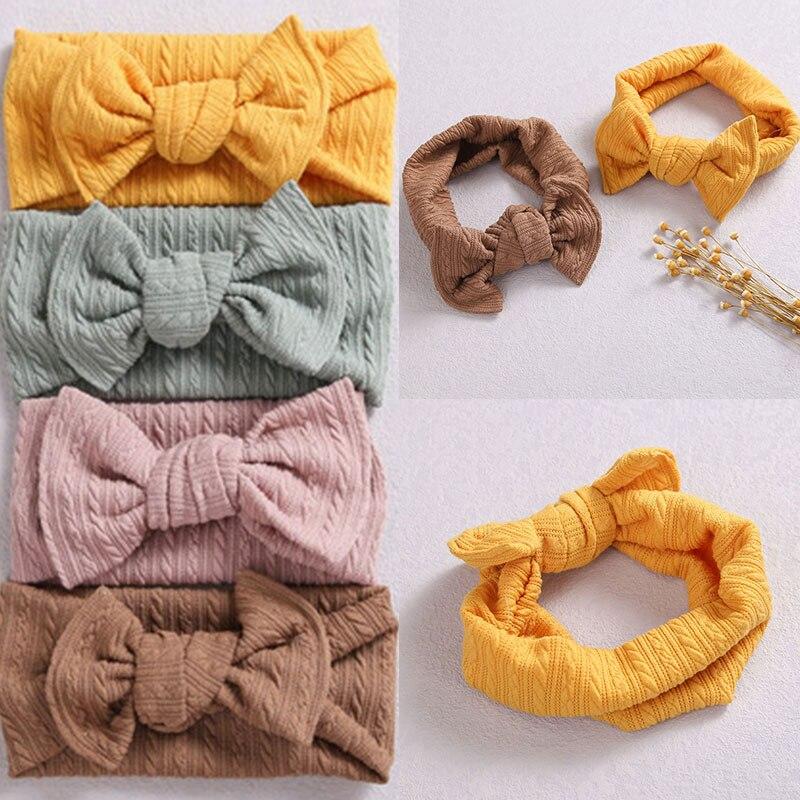 1PC Bowknot Baby Girl Headband Nylon Elastic Bow Baby Headwrap for Kids Turban Headwear Hair Accesso