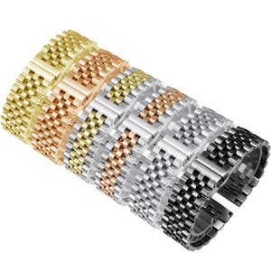 Stainless Steel Strap Replacement Metal Belt For T-issot C-asio Men's Women's Watch Chain 12 14 16 18 19 20 21 22mm Black Silver