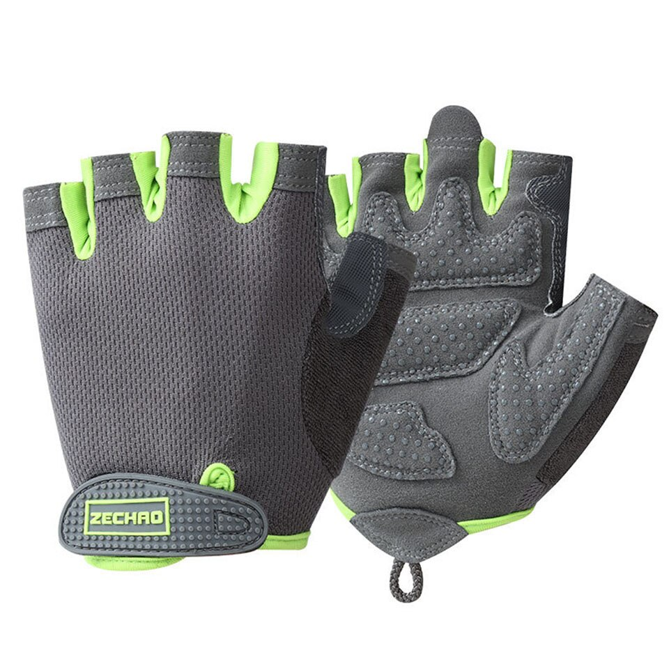 Loogdeel professionnel salle de sport Fitness gants puissance haltérophilie femmes hommes Crossfit entraînement musculation demi doigt protège-main