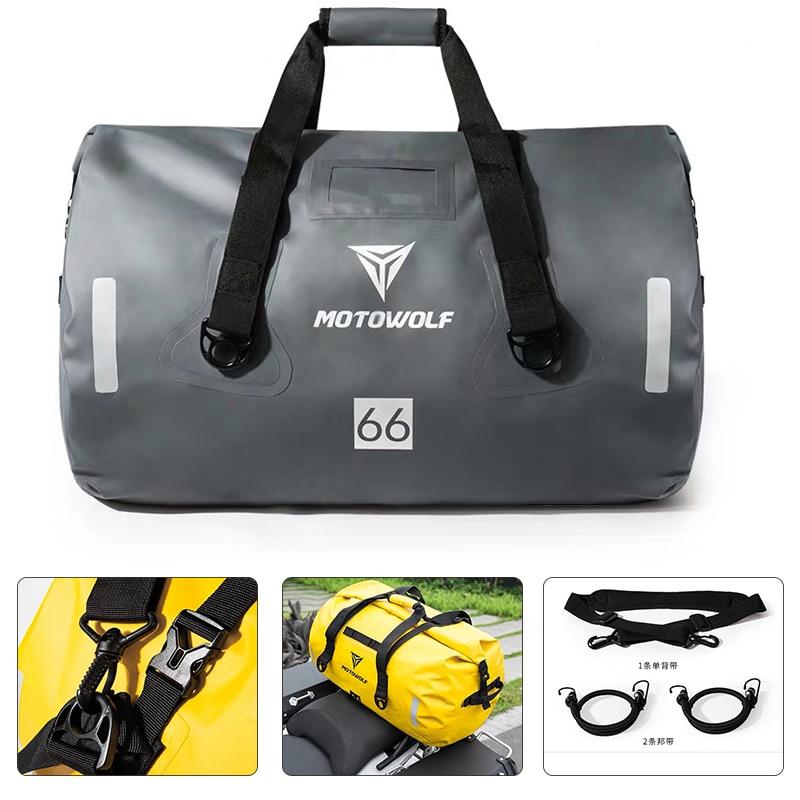 40L 66L 90L Travel Motorcycle Tail Package handbag Long-distance Backpack 6 Level Waterproof Large Capacity Motorcycle Bag