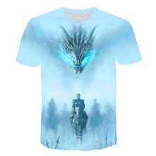 2019 plus récent T-shirt Game of Thrones T-shirt nuit roi & Dragon hommes T-shirt 3d impression T-shirt été Hip Hop manches courtes