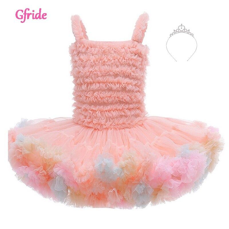 Vestido de Ballet infantil para bebés, tutú de danza, vestido de 1, 2, 3, 4, 5, 6 años de edad, vestido de cumpleaños infantil para recién nacidos