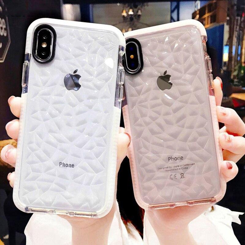 De lujo de casos de teléfono para iPhone X Max suave TPU transparente a prueba de golpes a prueba de cubierta transparente para iPhone 7 7 6 6S Plus teléfono Shell