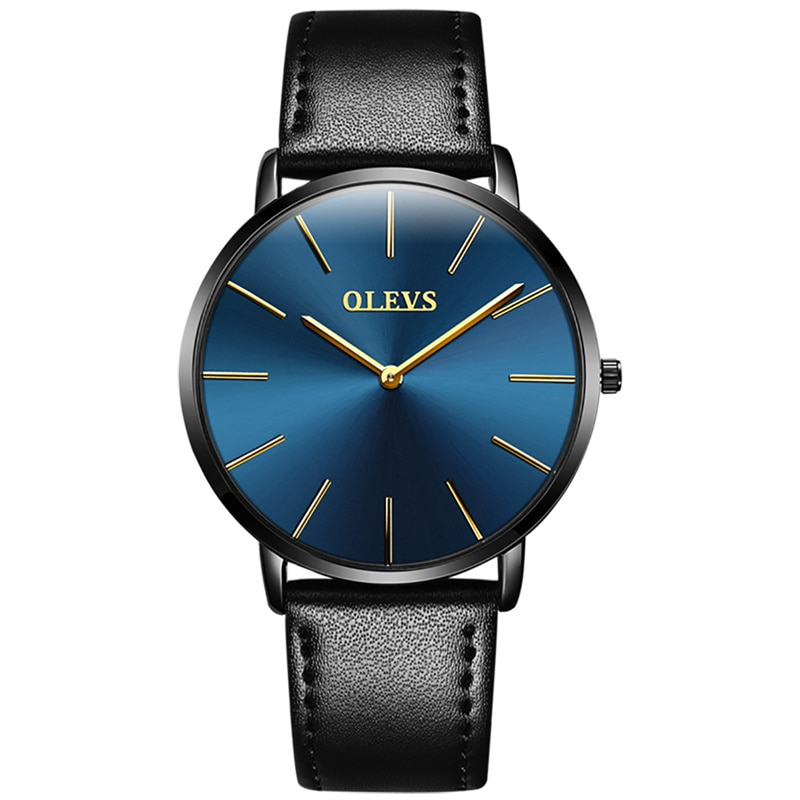 2021 New Mens Quartz Watches Business Waterproof Wristwatch Men Top Brand Luxury Breathable Leather