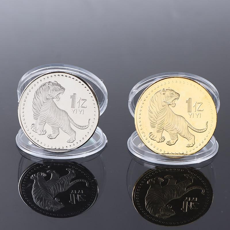 2022 оригинальные памятные монеты в китайском стиле с изображением тигра на новый год, золотые и серебряные монеты, старые монеты