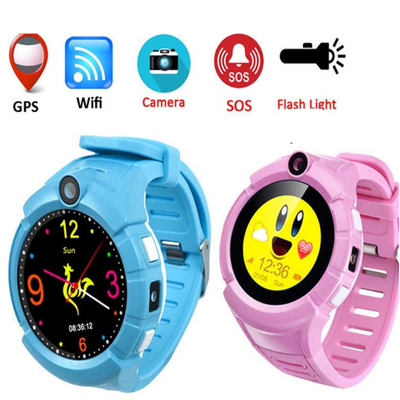 Crianças Polegada Tftround Sos Anti Perdido Q360 Gps Relógio Inteligente 2021 1.4