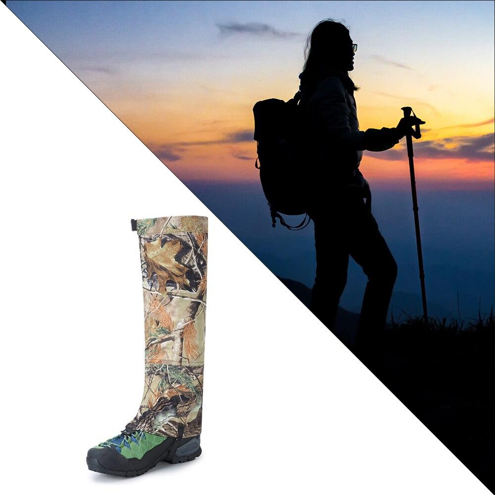 Legging de camuflaje polainas impermeables botas de Snowboard cubierta zapatos de Trekking polainas de caza senderismo Camping al aire libre vida desierto