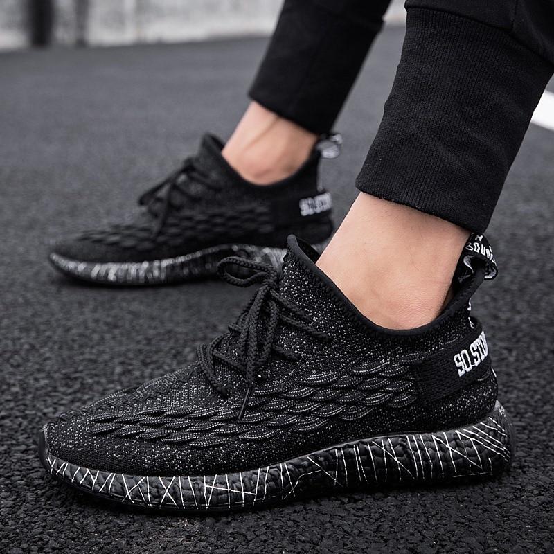 Sapatos de Coco Tênis de Corrida dos Homens Novo Inverno Novos Voando Tecido Esportes Sapatos Casuais Mais Veludo Quente 2021