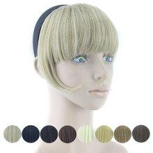 Chevelure synthétique 8 couleurs blond noir bordeaux   Postiche frange et faux cheveux pour femmes