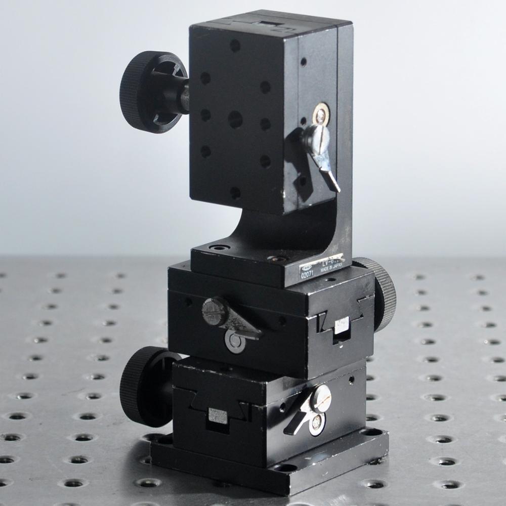 XYZ axis CHUO LT-612 manual three-axis precision horizontal lifting displacement adjustment platform 40*60mm aluminum
