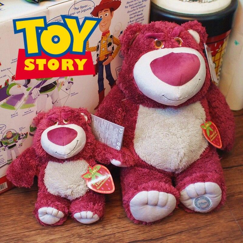 Disney Toy Story 4 Lotso Strawbbery Plush Toys Cartoon Cute Lotso Bear Stuffed Toys Plush Dolls Birthday Gifts for Kids Girls