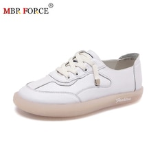 MBR FORCE 여성 운동화 플랫 플랫폼 신발 패션 레이스 업 야외 캐주얼 여성 신발