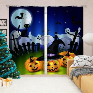 Blackout Window Curtain Photo Printed pumpkin Kid Room Curtain Drapes Luxury Home Decor Curtains For Living Room Bedroom
