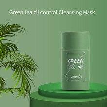 MEIDIAN Green Tea Mask Solid Face Mask Stick Oil Control Moisturizing Cleaning Mask Blackhead Fine P