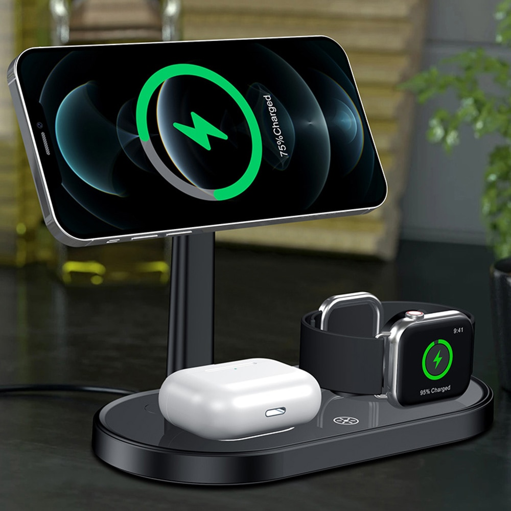 3 In 1 Wireless Charger Magnetic 15W For Magsafe IPhone 12 Pro Max Fast Wireless Charger Station For
