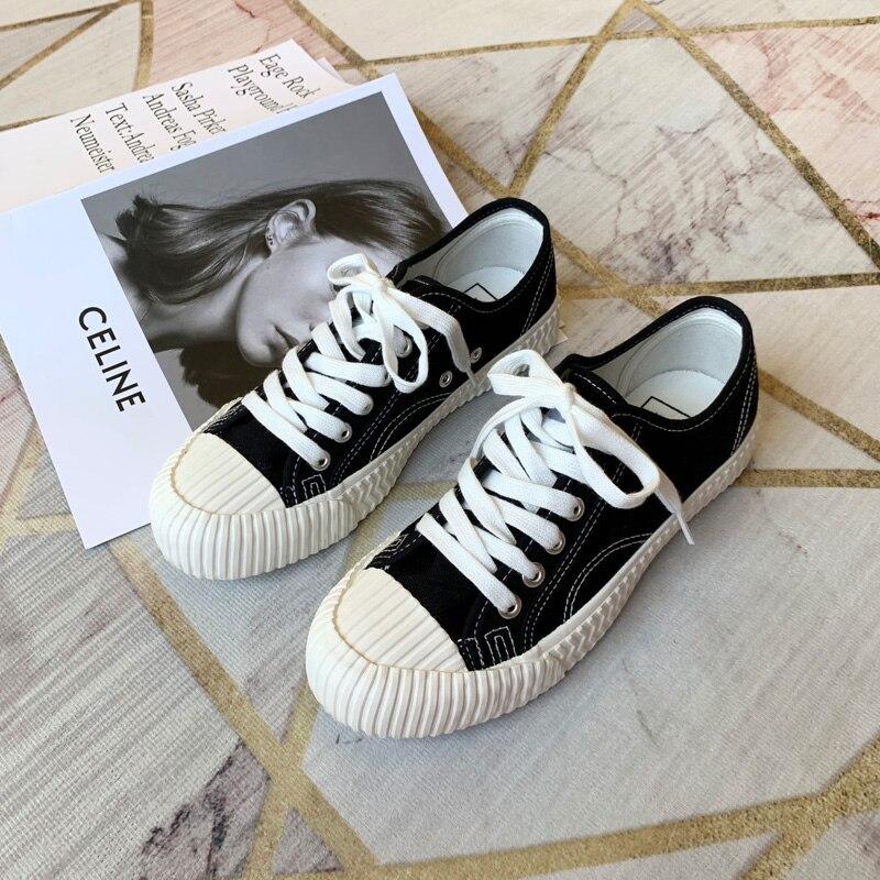 Woman Sneakers Shoes Vulcanize Canvas Casual 2021 Summer High Top Walking Flats Sport Running Women'