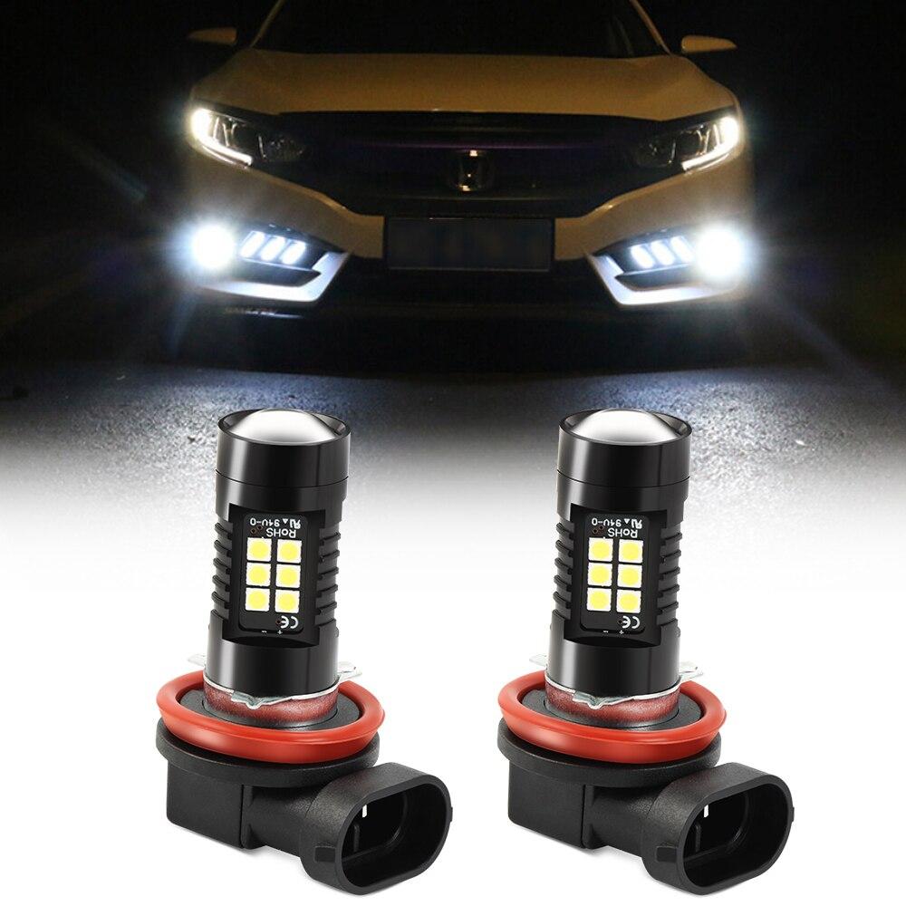 2 pçs h8 h11 led luzes de nevoeiro lâmpada para land rover a9 range rover sport 4evoque freelander 2 descoberta