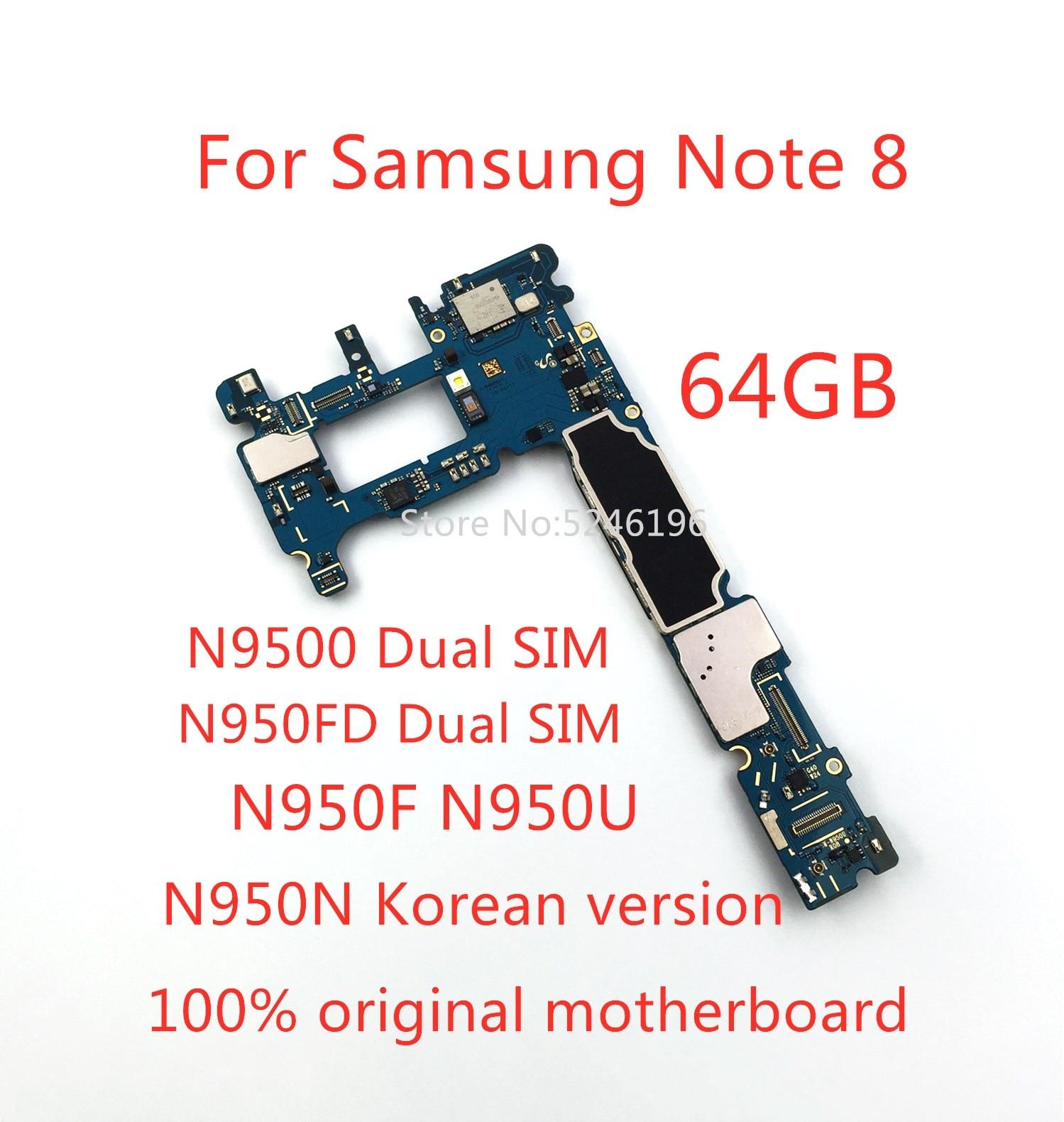 1 قطعة تنطبق على سامسونج غالاكسي نوت 8 نوت 8 N9500 N950FD N950F N950U N950N 64 جيجابايت الأصلي مقفلة اللوحة استبدال