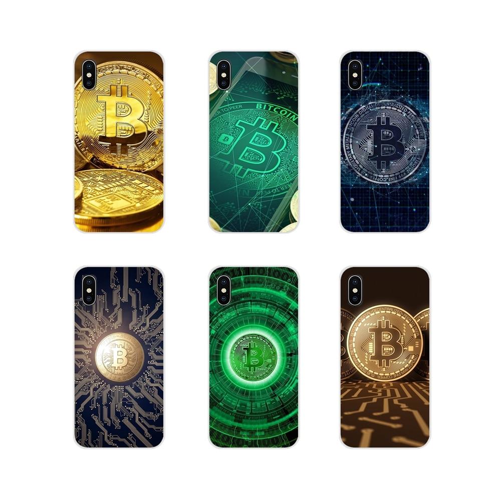 Para Huawei G7 G8 P7 P8 P9 P10 P20 P30 Lite Mini Pro P Smart Plus 2017 2018 2019 funda para teléfono móvil patrón de dibujos animados Bitcoin