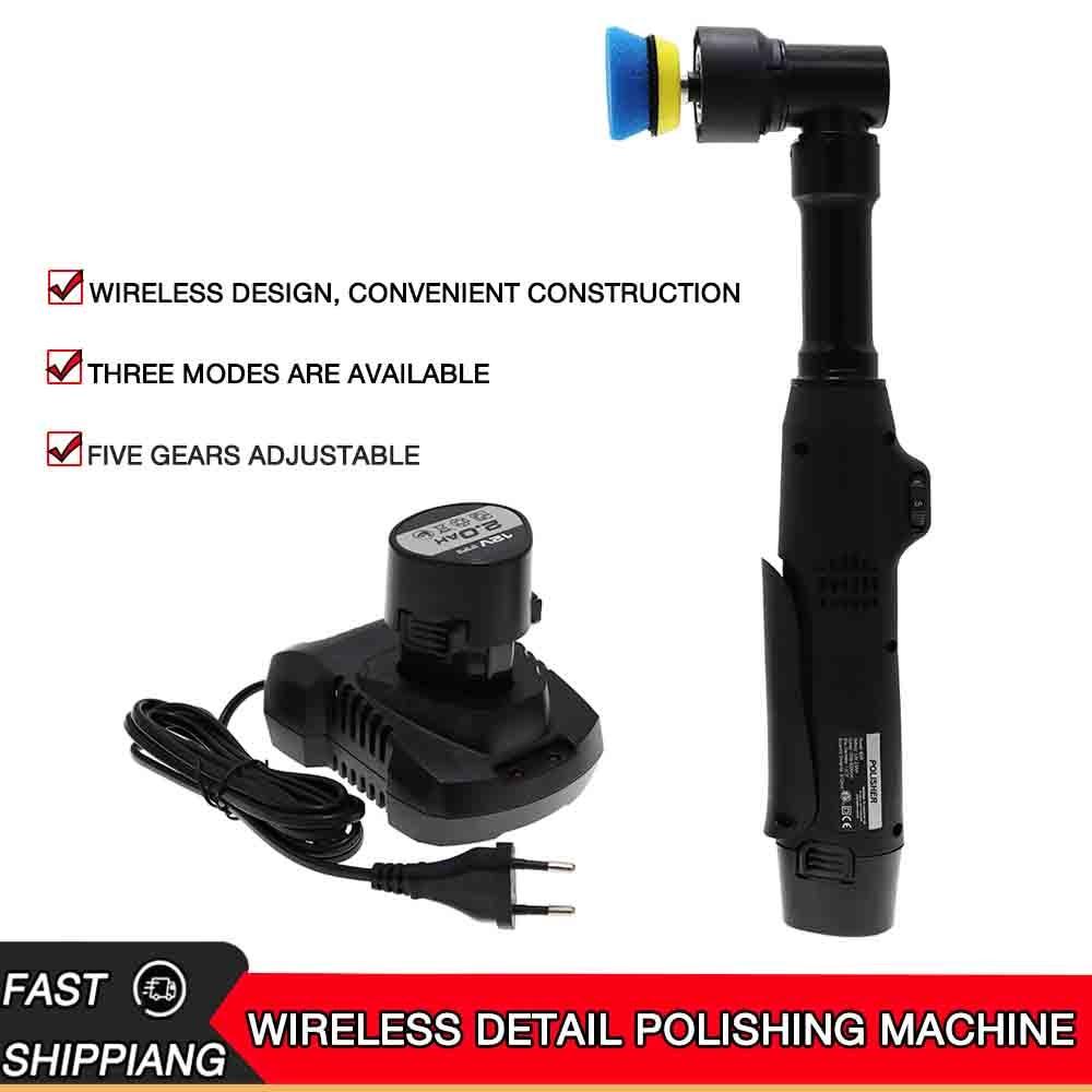 12 فولت مايكرو لاسلكي دوارة كهربائية صغيرة مزدوجة عمل سيارة الملمع RO/DA لتلميع والصنفرة والتنظيف