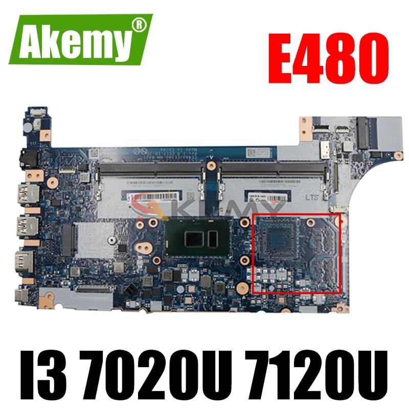 Akemy لينوفو ثينك باد E480 E580 دفتر اللوحة EE480 EE580 NM-B421 CPU I3 7020U 7120U 100% اختبار العمل FRU 01LW179