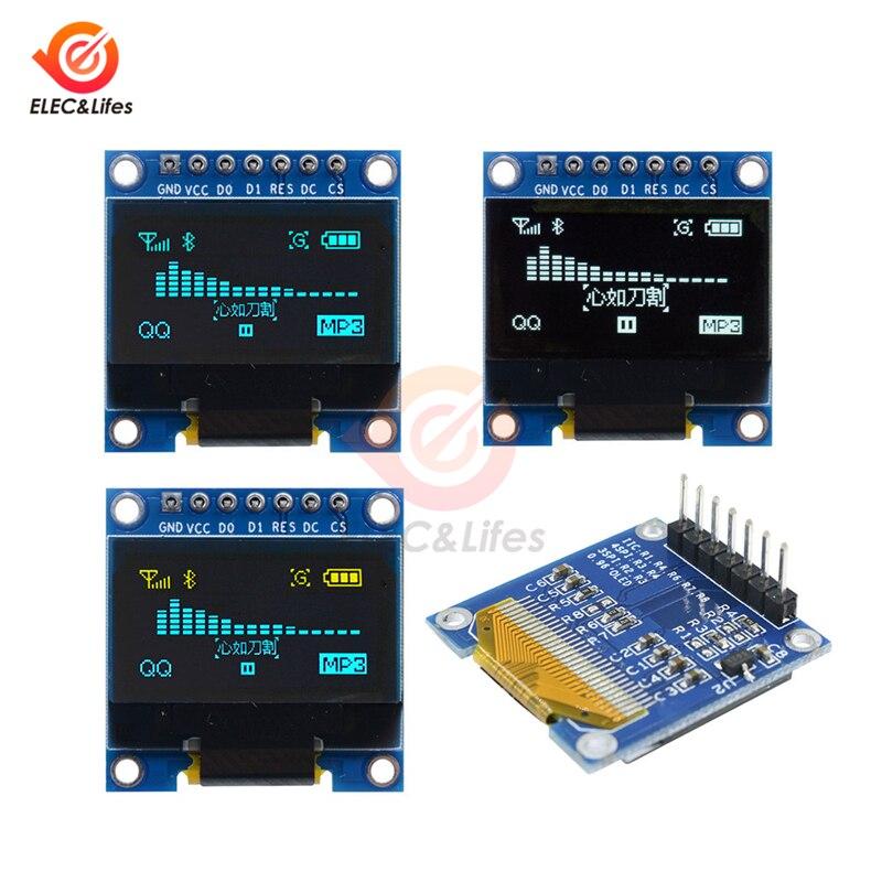 1.3 Inch OLED Module White Color 128X64 0.96 Inch OLED LCD LED Display Module 1.3 IIC I2C SPI Communicate for Arduino Diy Kit