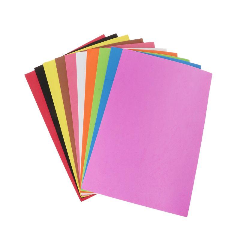 10 Uds. 20x30cm esponja de papel de espuma 2mm de espesor poliéster fieltro tela hoja de costura DIY decoración de tela para el hogar artesanía creativa