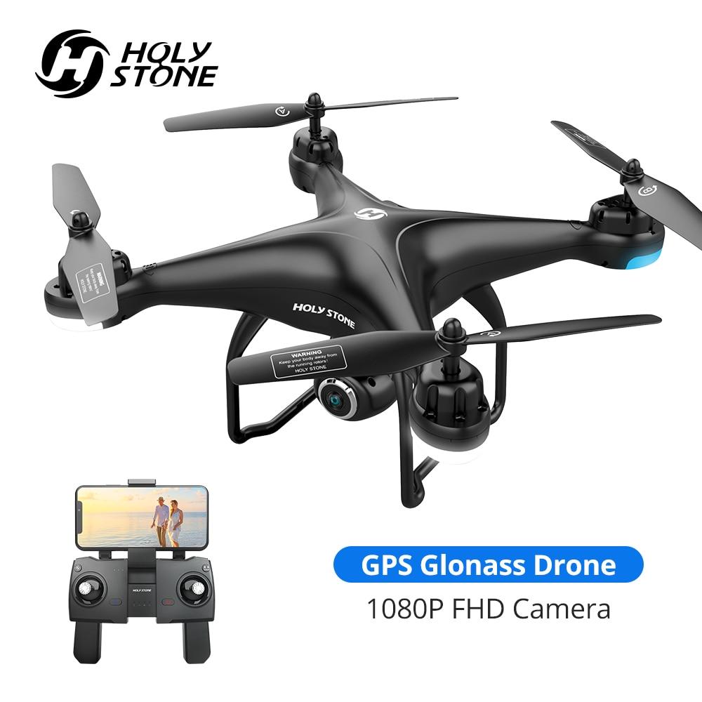 Holy Stone-طائرة بدون طيار تعمل بالتحكم عن بعد مع GPS وكاميرا 1080p عالية الدقة ، طائرة بدون طيار للتحكم عن بعد مع GPS/Glonass ، HS120D