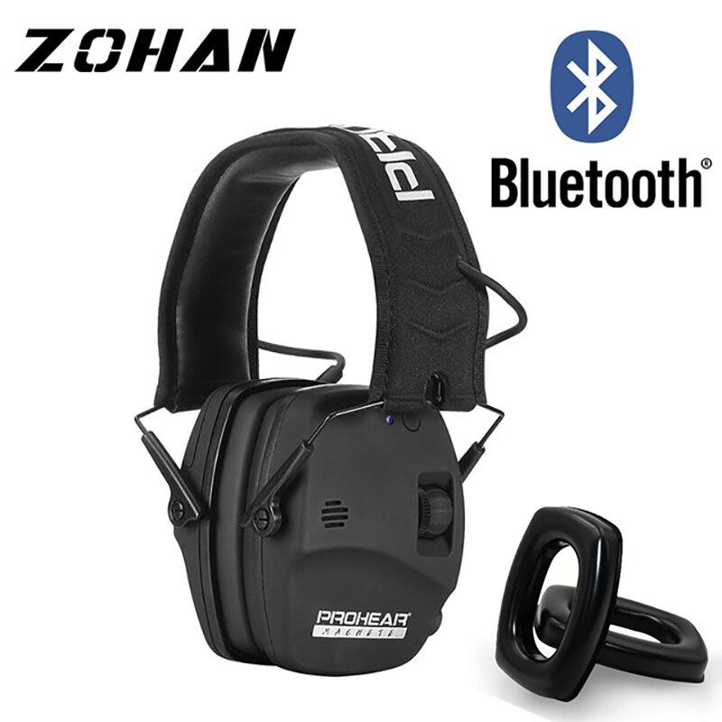 ZOHAN إلكتروني اطلاق النار سدادات حماية الأذن الصوت بلوتوث الحد من الضوضاء الأذن يفشل المهنية للصيد الأذن المدافع NRR22db