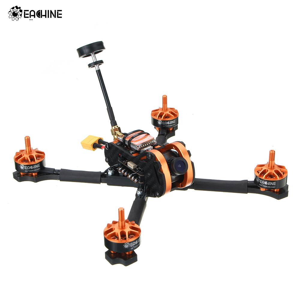 Eachine Tyro99 210 мм DIY версия FPV гоночного дрона с дистанционным управлением F4 OSD 30A BLHeli_S 40CH 600 мВт VTX 700TVL Cam