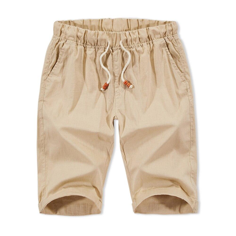 2020 summer new pure linen men's shorts loose casual linen pants factory a lot of spot