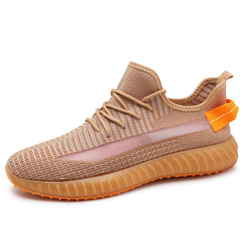2021 New Breathable Flying Woven Coconut Shoes Transparent Sole Lightweight Men's Sports Shoes Casua