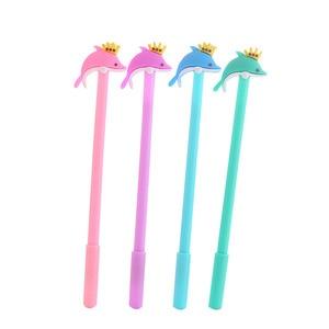 20 Pcs Cute Dolphin Gel Pen Student Stationery Cartoon Office Supplies Factory Wholesale Canetas Criativas Gel Pen Set