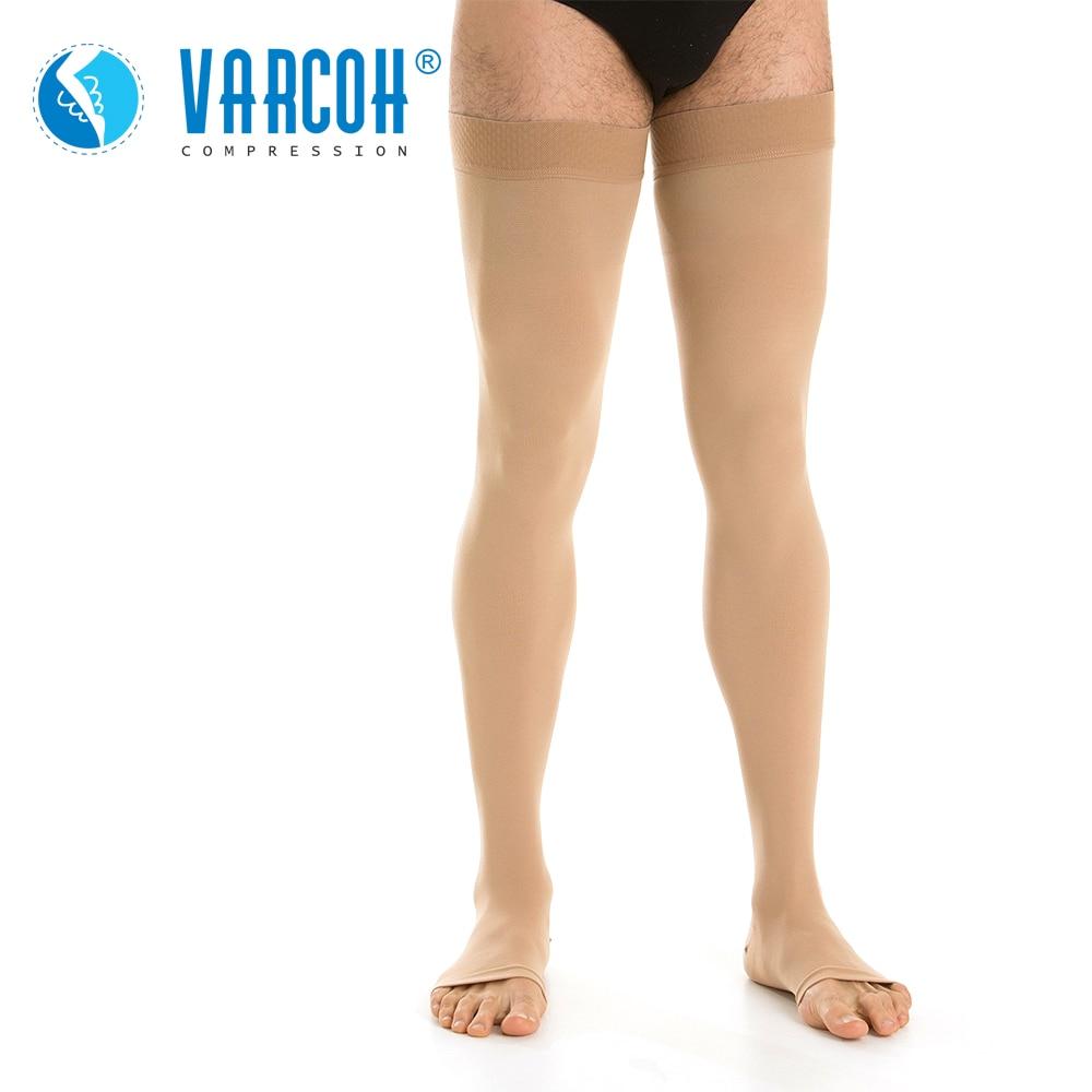 جوارب ضغط للرجال والنساء ، مقدمة مفتوحة ، 20-30 ملم زئبق ، جوارب دعم متدرجة DVT ، الأمومة ، الحمل ، الدوالي ، جبائر الساق