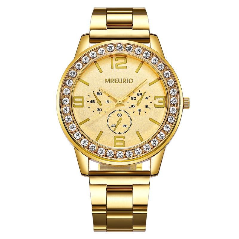 Фото - Женские часы Geneva, Классические роскошные женские часы стразы, женские часы, модные золотые часы, женские часы, женские часы часы