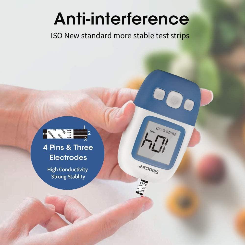 Sinocare-شرائط اختبار الجلوكوز في الدم والمشارط والمشارط لاختبار السكري ، 400/300/200/100 قطعة