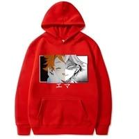 emma hoodies anime the promised neverland print sweatshirt men women casual hooded pullovers streetwear sweater 2021 hoody